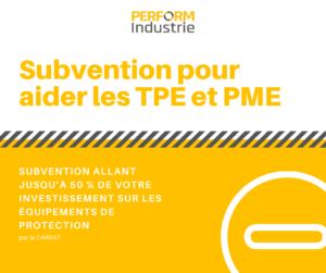 INFORMATION : Subvention jusqu'à 50% des équipements de protection